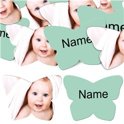 Mint Butterfly Personalised Confetti