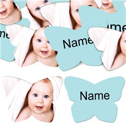 Baby Blue Butterfly Personalised Confetti