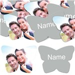 Silver Butterfly Personalised Confetti