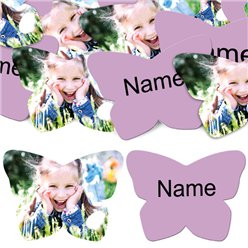 Lilac Butterfly Personalised Confetti
