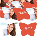 Tangerine Tango Butterfly Personalised Confetti