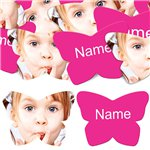 Hot Pink Butterfly Personalised Confetti