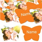 Orange Butterfly Personalised Confetti
