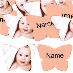 Peach Butterfly Personalised Confetti