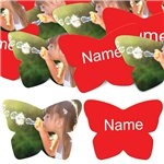 Red Butterfly Personalised Confetti