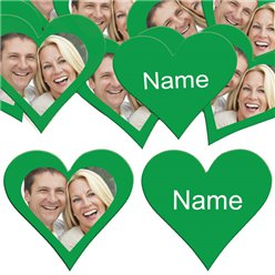 Green Heart Personalised Confetti