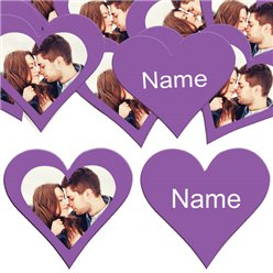 Purple Heart Personalised Confetti