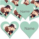 Mint Heart Personalised Confetti
