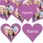 Radiant Orchid Heart Personalised Confetti