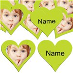 Lime Green Heart Personalised Confetti