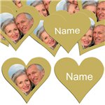 Gold Heart Personalised Confetti