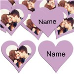 Lilac Heart Personalised Confetti