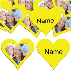 Yellow Heart Personalised Confetti