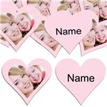Baby Pink Heart Personalised Confetti