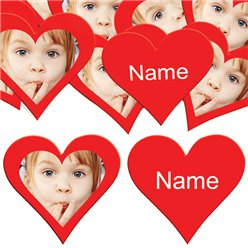 Red Heart Personalised Confetti