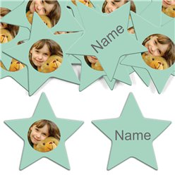 Mint Star Personalised Confetti
