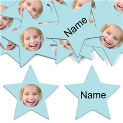 Baby Blue Star Personalised Confetti