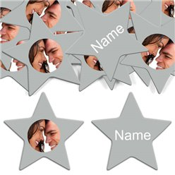 Silver Star Personalised Confetti