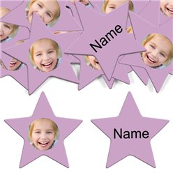 Lilac Star Personalised Confetti