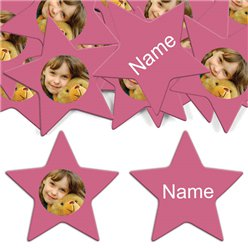 Honeysuckle Star Personalised Confetti