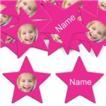 Hot Pink Star Personalised Confetti
