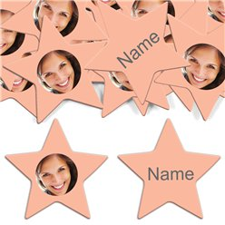 Peach Star Personalised Confetti