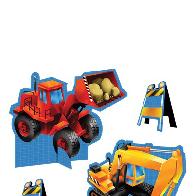 Construction Party Table Centrepiece Kit