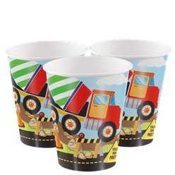 Construction Party Paper Cups - 266ml