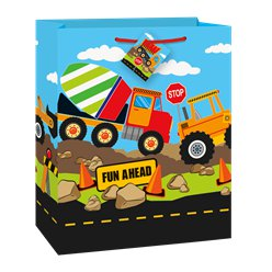 Construction Party Large Gift Bag - 33cm x 27cm