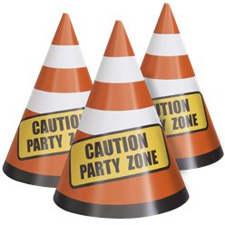 Construction Party Cones Table Decoration