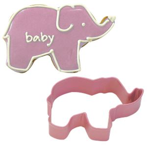 Pink Elephant Cookie Cutter