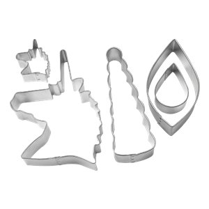 Unicorn Cookie Cutters Decorating Kit