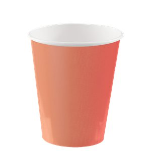 Coral Cups - 270ml Paper Party Cups