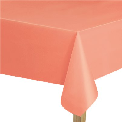 Coral Plastic Tablecover - 1.4m x 2.8m