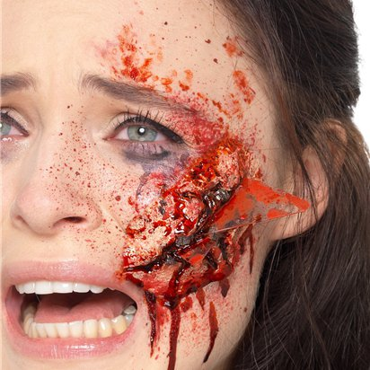 Latex Glass Fake Wound -   Halloween Special  Effects Makeup front