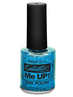 Glitter Nail Varnish - Blue 12ml
