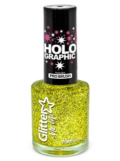 Glitter Nail Polish - Gold 10ml