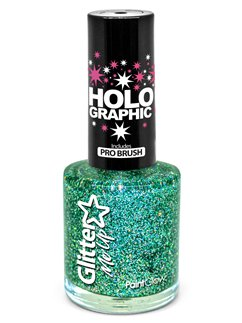 Glitter Nail Polish  - Green 10ml