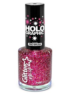 Glitter Nail Polish  - Red 10ml