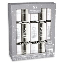 Silver Stardust Christmas Crackers - 30cm