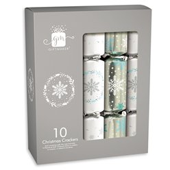 Silver & White Christmas Crackers - 30cm