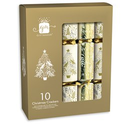 Cream & Gold Christmas Crackers - 30cm