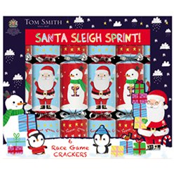 Santa Sleigh Race Game Christmas Crackers - 25cm