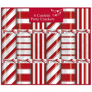 Candy Stripe Confetti Crackers - 17cm