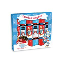 Snowball Slingshot Christmas Crackers - 23cm