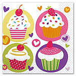 Cupcake Napkins - 2ply Paper Party Napkins