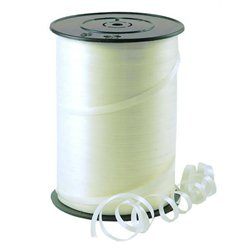 Ivory Curling Balloon Ribbon - 500m