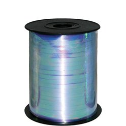 Iridescent Blue Metallic Curling Balloon Ribbon - 230m