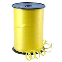 Yellow Curling Balloon Ribbon - 500m