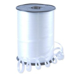 White Curling Balloon Ribbon - 500m